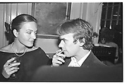 Anna Ford; Martin amis. Life a a party book launch. Lescargot. London. 17 October 1983. SUPPLIED FOR ONE-TIME USE ONLY> DO NOT ARCHIVE. © Copyright Photograph by Dafydd Jones 248 Clapham Rd.  London SW90PZ Tel 020 7820 0771 www.dafjones.com