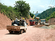 Road construction on the road to Ou Tai, Phongsaly province, Lao PDR