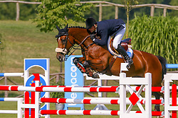 Theeuwes Harrie, NED,  Souvenir vd Heffinck<br /> CSIO Lummen 2003<br /> Photo © Hippo Foto