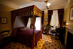 © Licensed to London News Pictures. 10/12/2012. London, UK. The former bedroom of writer Charles Dickens is seen after the Charles Dickens Museum re-opened its doors to the public in London today (10/12/12). The museum, spread over 4 floors, is housed in the building where Dickens lived with his wife from March 1837 to December 1839 and where he authored some of his famous titles including the Pickwick Papers, Nicholas Nickleby and Oliver Twist. Photo credit: Matt Cetti-Roberts/LNP