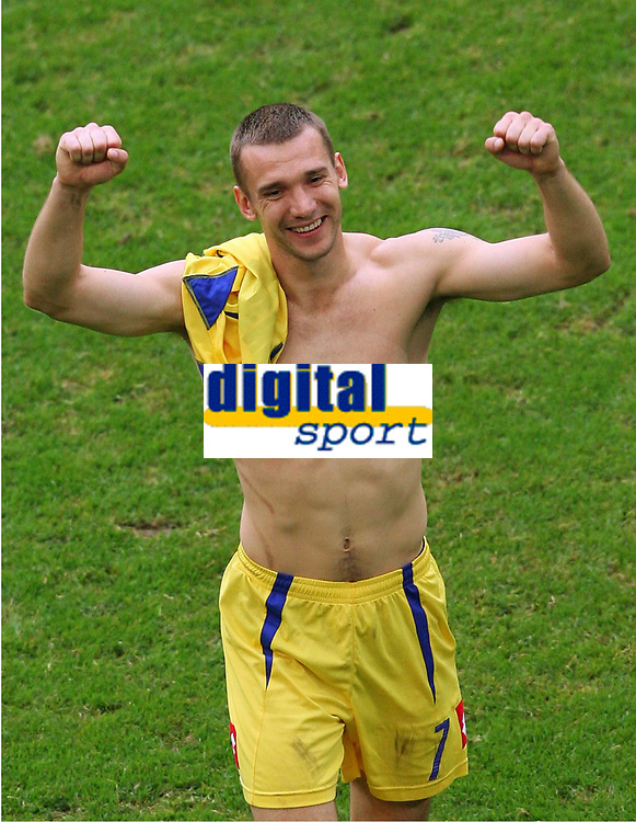 Schlussjubel Andriy Shevchenko Ukraine<br /> Fussball WM 2006 Saudi-Arabien - Ukraine<br /> Saudi-Arabia - Ukraina <br /> Norway only