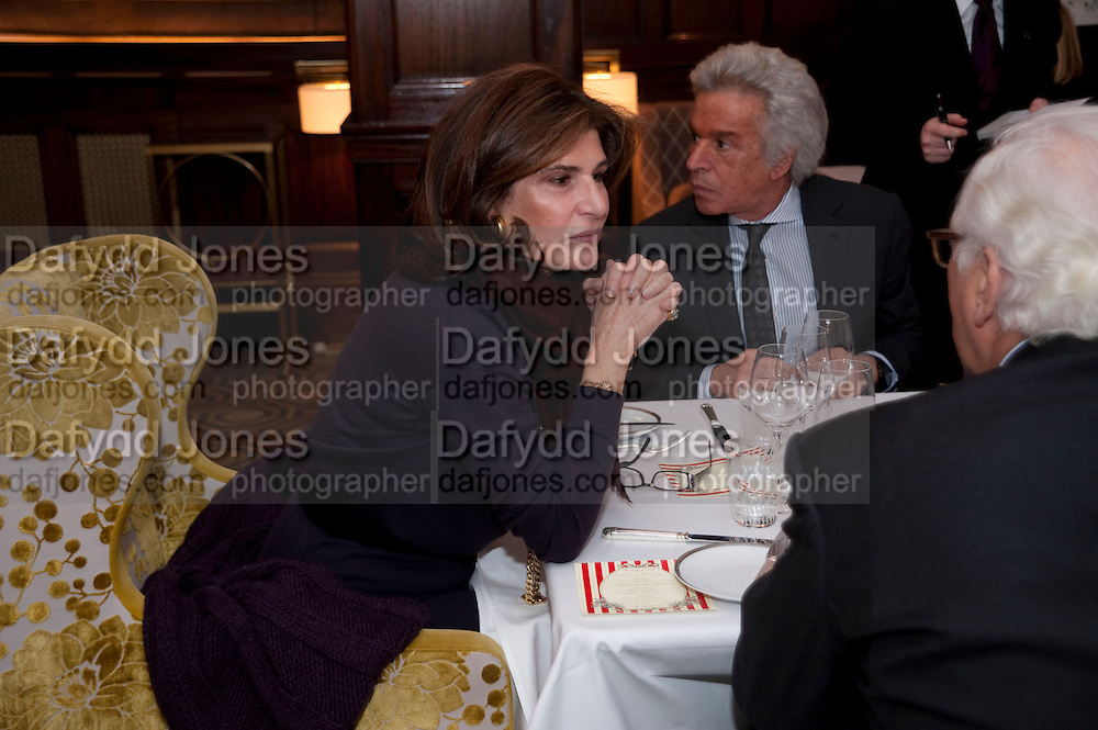 MARINA PALMA; GIANCARLO GIAMETTI, Graydon and Anna Carter host a lunch for Carolina Herrera to celebrate the ipening of her new shop on Mount St. .The Connaught. London. 20 January 2010