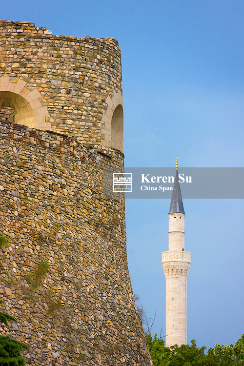 Kale Fortress and Mustapha Pasha Mosque in the old town, Skopje, Republic of Macedonia, Europe