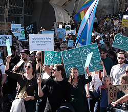 Edinburgh Climate Change Protest March<br /> <br /> Thursday, 19th September 2019<br /> <br /> Pictured: Marchers make their way from the Meadows to the Scottish Parliament<br /> <br /> Alex Todd   Edinburgh Elite media