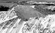 Velvet snows blanket the steep sides of the northeast ridge of Lewanee Mountain, near Grizzly Peak, Colorado.