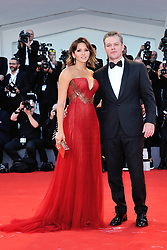 Matt Damon and his girlfriend Luciana Barroso attending the Opening Ceremony and the Premiere of the movie Downsizing during the 74th Venice International Film Festival (Mostra di Venezia) at the Lido, Venice, Italy on August 30, 2017. Photo by Aurore Marechal/ABACAPRESS.COM