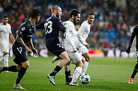 Real Madrid´s Isco (R) and Malmo´s Jo Inge Berget during 2015/16 Champions League soccer match between Real Madrid and Malmo at Santiago Bernabeu stadium in Madrid, Spain. December 08, 2014. (ALTERPHOTOS/Victor Blanco)