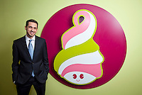 Amit Kleinberger, CEO Menchies in his headquarters in Encino, CA.  February 4, 2013. Photo by David Sprague Copyright 2013