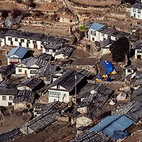 Namche Bazar, Nepal, leading town of the Sherpa people. 1980