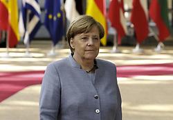 April 29, 2017 - Brussels, BELGIUM - Germany Chancellor Angela Merkel arrives for an EU summit meeting concerning Brexit, Saturday 29 April 2017, at the European Union headquarters in Brussels. BELGA PHOTO NICOLAS MAETERLINCK (Credit Image: © Nicolas Maeterlinck/Belga via ZUMA Press)
