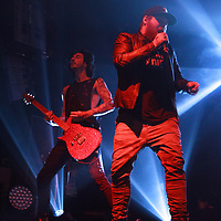 Asking Alexandria performing live on the Resurrection Tour at Manchester Academy, Manchester, United Kingdom, 2018-01-24