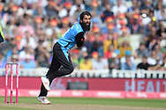 Moeen Ali of Worcestershire Rapids bowling during the Vitality T20 Finals Day Semi Final 2018 match between Worcestershire Rapids and Lancashire Lightning at Edgbaston, Birmingham, United Kingdom on 15 September 2018.