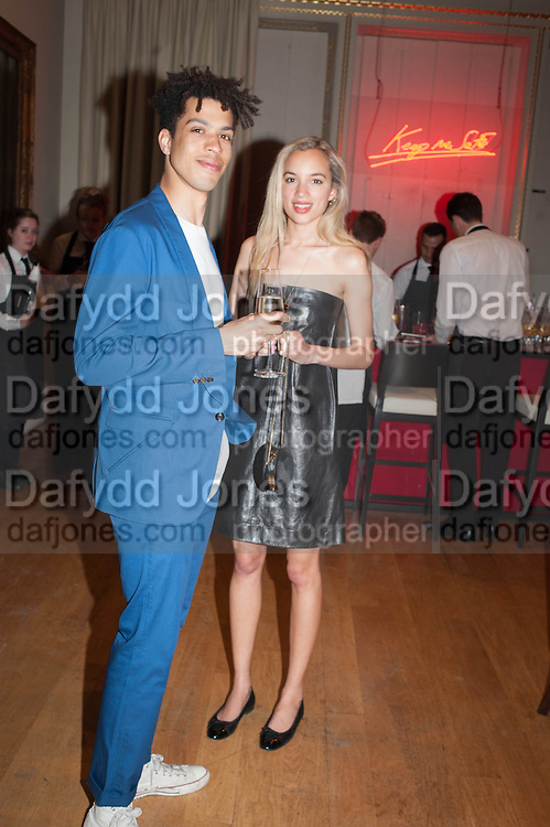 SEAN FRANK; PHOEBE COLLINGS-JONES,  VIP room during the RA summer exhibition party. Royal Academy, Piccadilly. London. 5 June 2013.