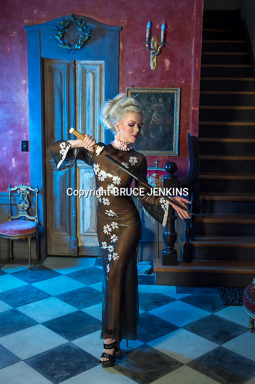 Latex fashion designed and modelled by Eliza-May Tolhurst ( Miss E )