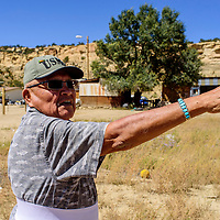Pinedale chapter president Raphael Martin points out landmarks in Pinedale Tuesday.
