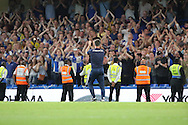 Bristol Rovers manager Darrell Clarke applauding fans after final whistle during the EFL Cup match between Chelsea and Bristol Rovers at Stamford Bridge, London, England on 23 August 2016. Photo by Matthew Redman.
