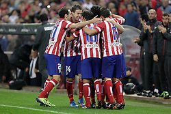 27.10.2013, Estadio Vicente Calderon, Madrid, ESP, Primera Division, Atletico Madrid vs Real Betis, 10. Runde, im Bild Atletico de Madrid's celebrate, goal // Atletico de Madrid's celebrate, goal during the Spanish Primera Division 10th round match between Club Atletico de Madrid and Real Betis at the Estadio Vicente Calderon in Madrid, Spain on 2013/10/28. EXPA Pictures © 2013, PhotoCredit: EXPA/ Alterphotos/ Victor Blanco<br /> <br /> *****ATTENTION - OUT of ESP, SUI*****
