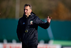 CARDIFF, WALES - Monday, November 12, 2018: Wales' assistant coach Albert Stuivenberg during a training session at the Vale Resort ahead of the UEFA Nations League Group Stage League B Group 4 match between Wales and Denmark. (Pic by David Rawcliffe/Propaganda)