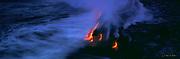 Lava into Ocean, Kilauea Volcanoes, Island of Hawaii, Hawaii, USA