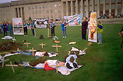 Pentagon: symbolic dead at School of the Americas protest 4/28/97.  Washington DC USA