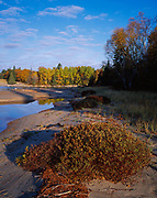 Mouth of the Sand River along the shore of Lake Superior, Lake Superior Provincial Park, Ontario, Canada.