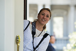 May 18, 2017 - Washington, DC, United States - Shealah Craighead, Chief Official White House photographer, gets ready for the arrival of President Juan Manuel Santos of Colombia, at the West Wing Portico (North Lawn) of the White House, On Thursday, May 18, 2017. (Credit Image: © Cheriss May/NurPhoto via ZUMA Press)