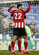 David McGoldrick of Sheffield Utd celebrates his goal with Lys Mousset of Sheffield Utd during the FA Cup match at the Madejski Stadium, Reading. Picture date: 3rd March 2020. Picture credit should read: Simon Bellis/Sportimage