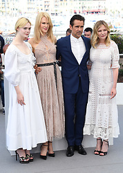 Elle Fanning, Nicole Kidman, Colin Farrell and Kirsten Dunst attending the Beguiled photocall as part of the 70th Cannes Film Festival. Photo credit should read: Doug Peters/EMPICS Entertainment