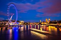 London Eye & River Thames, Blue Hour
