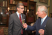 GUY DE RIVOIRE; PRINCE CHARLES, Everyman 25th Anniversary party, Spencer House. St. James' Place. London. SW1. 26 October 2016