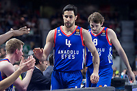 Anadolu Efes Dogus Balbay and Birkan Batak during Turkish Airlines Euroleague match between Real Madrid and Anadolu Efes at Wizink Center in Madrid, Spain. January 25, 2018. (ALTERPHOTOS/Borja B.Hojas)