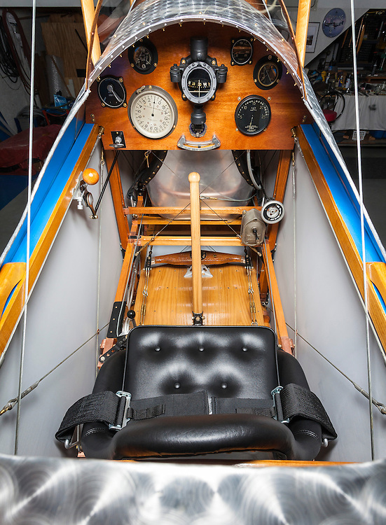"Panel of a fully restored and airworthy Curtiss JN-4D ""Jenny""."