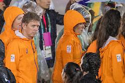 21-08-2016 BRA: Olympic Games day 22, Rio de Janeiro<br /> Rio neemt afscheid van de Olympische Spelen, sluitingsceremonie met veel dans, muziek en saaiheid / Arjen Boonstoppel