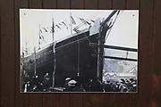 Photo of ship launch at the Maritime museum, Porthmadog, Gwynedd, north west Wales, UK