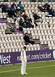 The crowd at the Ageas Bowl watch on - Photo mandatory by-line: Robbie Stephenson/JMP - Mobile: 07966 386802 - 27/04/2015 - SPORT - Cricket - Southampton - The Ageas Bowl - Hampshire v Nottinghamshire - County Championship Division One