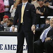 UCF head coach Donnie Jones is seen during an NCAA basketball game between the 14th ranked Louisville Cardinals and the UCF Knights at the CFE Arena on Tuesday, December 31, 2013 in Orlando, Florida. (AP Photo/Alex Menendez)