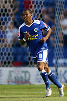 Photo: Pete Lorence.<br /> Leicester City v Portsmouth. Pre Season Friendly. 04/08/2007.<br /> DJ Campbell during the match.