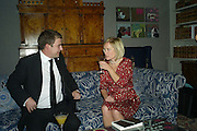 Dan Davies and Mariella Frostrup, The Esquire and Glenmorangie Man At the Top Awards 2007. The Haymarket Hotel London. 5 November 2007. -DO NOT ARCHIVE-© Copyright Photograph by Dafydd Jones. 248 Clapham Rd. London SW9 0PZ. Tel 0207 820 0771. www.dafjones.com.