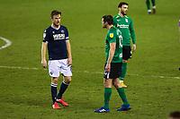 Football - 2020 / 2021 Sky Bet (EFL) Championship - Millwall vs Birmingham City  - The Den<br /> <br /> The row continues as Lukas Jutkiewicz (Birmingham City) <br /> <br /> COLORSPORT/DANIEL BEARHAM