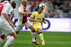 25-04-2010 VOETBAL: AJAX - FEYENOORD: AMSTERDAM<br /> De eerste wedstrijd in de bekerfinale is gewonnen door Ajax met 2-0 / Leroy Fer<br /> ©2009-WWW.FOTOHOOGENDOORN.NL