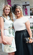 30/07/2015 report free : Winners Announced in Kilkenny Best Dressed Lady, Kilkenny Best Irish Design & Kilkenny Best Hat Competition at Galway Races Ladies Day <br /> From Left at the event were Lucy Roland, Manchester, Rebecca Licco, Manchester, <br /> Photo:Andrew Downes, xposure