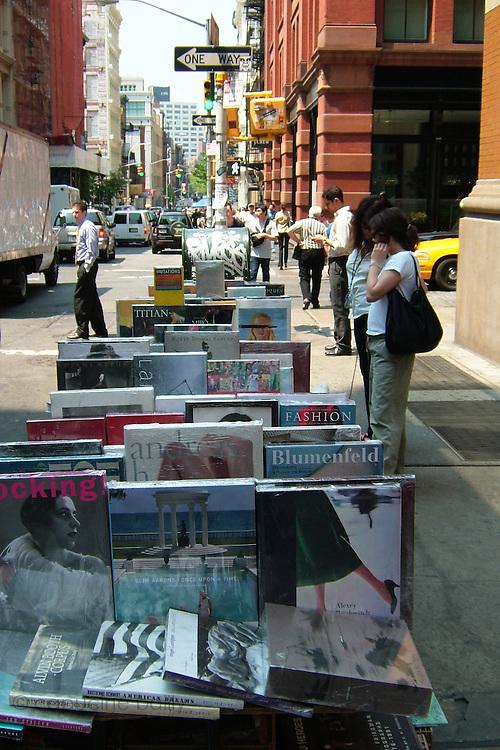 New York, New York. United States. May 11th 2004.Corner Prince street and Mercer street