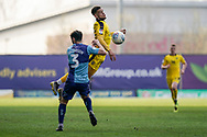 Marcus Browne of Oxford United chest the ball in the air during the EFL Sky Bet League 1 match between Oxford United and Wycombe Wanderers at the Kassam Stadium, Oxford, England on 30 March 2019.