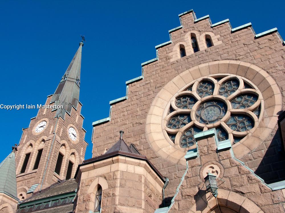 Detail of church in Lysekil town on Swedens western Bohuslan coast 2009