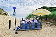 Beach trash, Long Nook Beach, Truro, Cape Cod, MA, USA