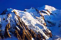 Mountain impression Aguille du Midi, Mont Blanc - Europe, France, Haute Savoie, Aiguilles Rouges, Chamonix, Lac Blanc - Sunset - September 2008