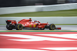 May 13, 2018 - Barcelona, Catalonia, Spain - KIMI RAIKKONEN (FIN) drives during the Spanish GP at Circuit de Barcelona - Catalunya in his Ferrari SF-71H (Credit Image: © Matthias Oesterle via ZUMA Wire)