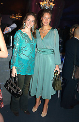 Left to right, MISS VANESSA TEAGUE and MISS MARINA HUNT at a party hosted by Panerai and the Baglioni Hotel, 60 Hyde Park Gate, London on 6th December 2004.<br /><br />NON EXCLUSIVE - WORLD RIGHTS