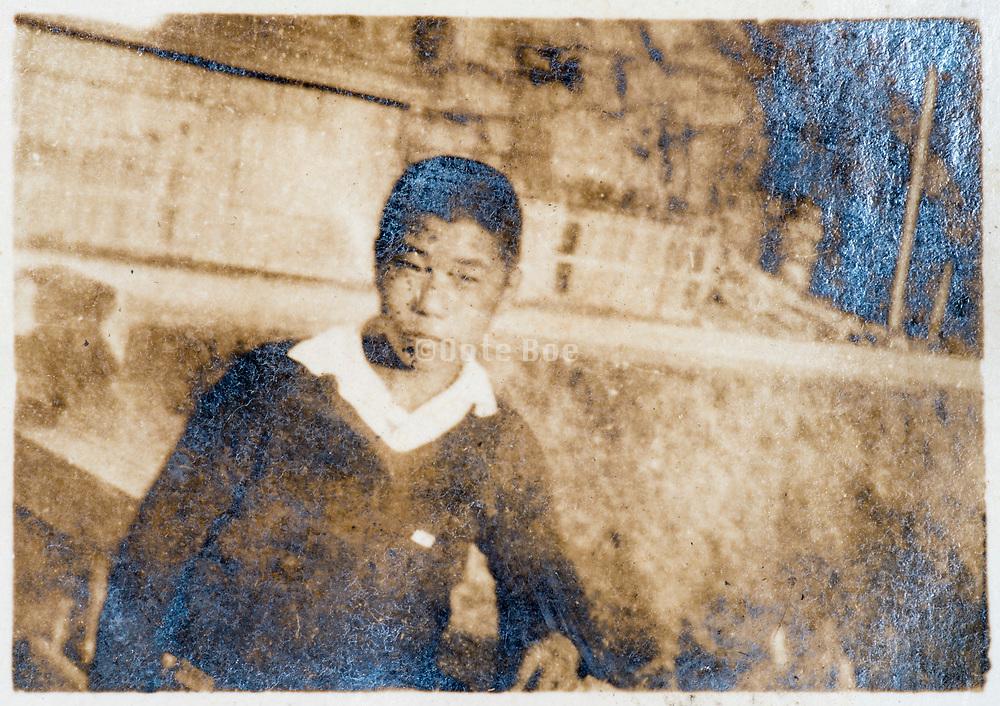 Japanese boy casual portrait ca 1930s