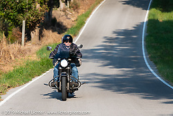 Insurance sponsor Greg Allen riding his antique BMW on the Cross Country Chase motorcycle endurance run from Sault Sainte Marie, MI to Key West, FL (for vintage bikes from 1930-1948). Stage 5 had riders cover 213 miles from Bowling Green, KY to Chatanooga, TN USA. Tuesday, September 10, 2019. Photography ©2019 Michael Lichter.